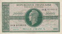 France 1000 Francs Marianne - 1945 Lettre A - Série 01 A 610612