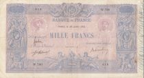 France 1000 Francs Rose et Bleu - 30-07-1912 Série W.790