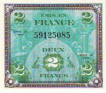 France 2 Francs Impr. américaine (drapeau) - 1944