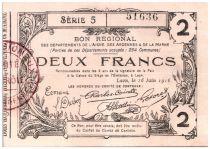 France 2 Francs Laon Régional - 1916