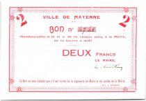 France 2 Francs Mayenne Specimen
