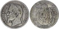 France 2 Francs Napoléon III - 1866 BB Strasbourg