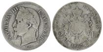 France 2 Francs Napoléon III - 1867 BB Strasbourg