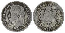 France 2 Francs Napoléon III - 1867 K Bordeaux