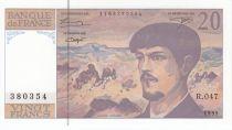 France 20 Francs Debussy - 1995 Série R.47