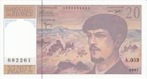 France 20 Francs Debussy - 1997 Série A.53