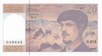 France 20 Francs Debussy - 1997 Série H.053