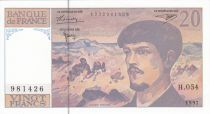 France 20 Francs Debussy - 1997 Série N.056