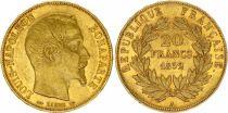 France 20 Francs Louis Napoléon Bonaparte - 1852 A