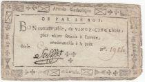 France 25 Livres Bon de Maulevrier dit Bon de Stofflet - 1794