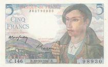 France 5 Francs Berger - 30-10-1947 Série C.146