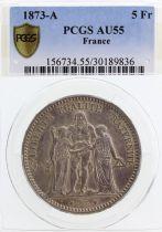 France 5 Francs Hercule - III e République - 1873 A - PCGS AU 55