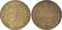 France 5 Francs Lavrillier - 1945