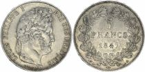France 5 Francs Louis-Philippe 1er - 1847 A Paris