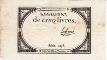 France 5 Livres 10 Brumaire An II (31.10.1793) - Sign. Labrosse