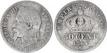 France 50 Centimes Francs Ceres - III ème République - 1864  BB Paris