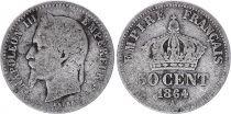 France 50 Centimes Francs Ceres - III ème République - 1864 Petit A Paris