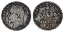France 50 Centimes Francs Ceres - III ème République - 1867  A Paris