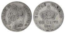 France 50 Centimes Francs Ceres - III ème République - 1867 Petit BB Paris