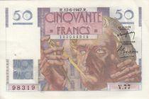 France 50 Francs Le Verrier - 12-06-1947 Série V.77 - SUP+