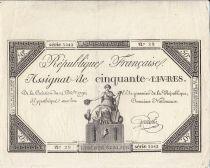 France 50 Livres - 14 Décembre 1792 - République Française - Sign. Goutallier