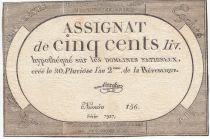 France 500 Livres 20 Pluviose An II - 8.2.1794 - Sign. Linreler