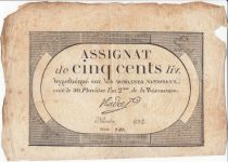 France 500 Livres 20 Pluviose An II - 8.2.1794 - Sign. Nadal