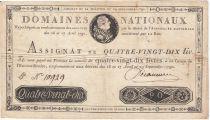 France 90 Livres Louis XVI - 29-09-1790 - Sign. Seigneuret