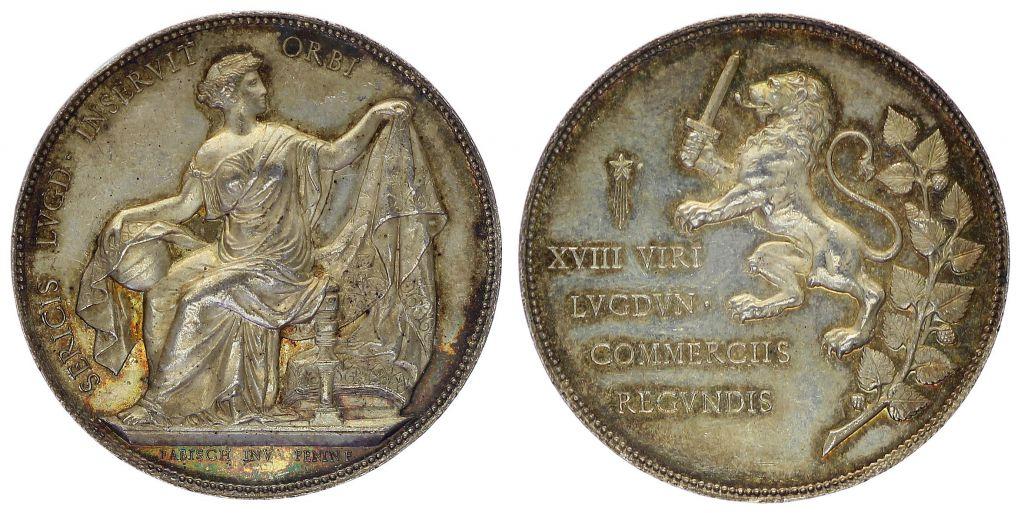 France jeton chambre de commerce lyon 1860 1879 for Chambre de commerce lyon