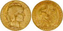 France KM.857 GAD.1064.a 20 Francs, Marianne - Coq 1911