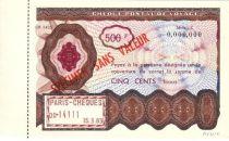 France Spécimen 500F , France Chèque Postal de Voyage - 1963