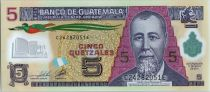Guatemala 5 Quetzales Général J. Rufino Barrios - Ecole (Canadian Bank Note) - 2011 Polymer