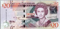 Iles des Caraïbes 20 Dollars Elisabeth II - Gouv. à Monserrat 2016