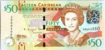 Iles des Caraïbes 50 Dollars Elisabeth II - Fort de Brimstone Hill 2016