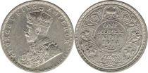 Inde 1 Rupee Georges V Roi et Empereur - 1914