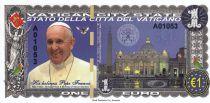 Indes Néerlandaises 1 EURO , Pape Francis - Vatican - 2016