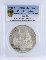 Indo-Chine Française 1 Piastre Liberté assise - 1903 A - PCGS