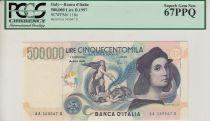 Italie 500000 lire Raphael -  1997 - PCGS 67 PPQ
