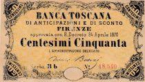 Italie NR.10 50 Centesimi, Vert et noir - Série Bb - 1870