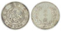 Japon 50 Sen, Fleur - Dragon - 1900 YR. 33