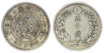 Japon 50 Sen, Fleur - Dragon - 1904 YR. 37