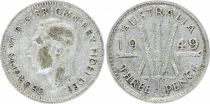 KM.44 3 Pence, Georges VI - 1949