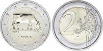 Lettonie 2 Euro Vache Brune de Lettonie - 2016
