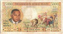 Madagascar 5000 Francs Pdt P. Tsiranana - 1966