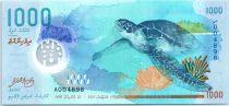 Maldives 1000 Rufiyaa, Tortue - Requin baleine - Polymer 2015 (2016) - nouvelles séries