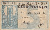 Martinique 5 Francs - Banque de la Martinique - 1941 O.1  13533