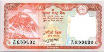 Népal 20 Rupees, Mont Everest - Cerf - 2016 ( 2017)