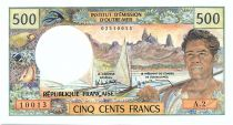 Nouvelle Calédonie 500 Francs Pirogue - 1985
