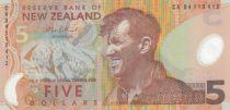 Nouvelle-Zélande 5 Dollars E. Hillary, Mont Everest - Pingouin - 2004