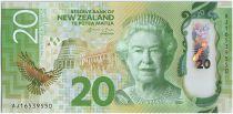Nouvelle-Zélande P.193 20 Dollars, Elisabeth II - Karearea - 2016 Polymer